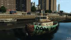 Realistic Rusty Tugboat