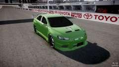 Mitsubishi Lancer Evolution X Tuning para GTA 4