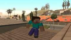 Steve da pele jogo Minecraft