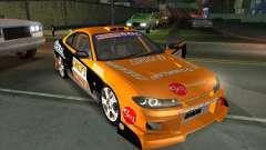 Nissan Silvia S15 Tunable KIT C1 - TOP SECRET para GTA San Andreas