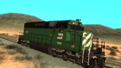 Locomotiva SD 40 Burlington Northern 8072