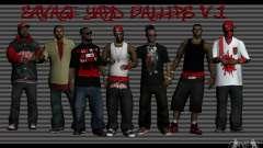 Peles gang Bloodz para GTA San Andreas