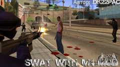 A SWAT está armada com M4 para GTA San Andreas