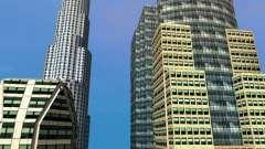 Nova textura de arranha-céus do centro da cidade