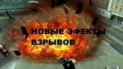 Novos efeitos de explosões