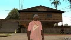 Pink Nike T-Shirt para GTA San Andreas