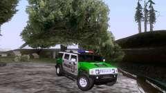 Hummer H2 Polizei para GTA San Andreas