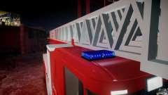 Scania Fire Ladder v1.1 Emerglights blue-red ELS