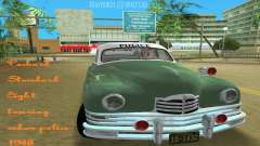 Packard Standard Eight Touring Sedan Police 1948 para GTA Vice City