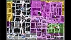 Mapa com nomes de ruas