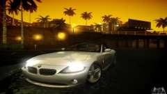 BMW Z4 prata para GTA San Andreas