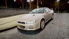 Nissan Skyline GT-R R34 2002 v1 para GTA 4