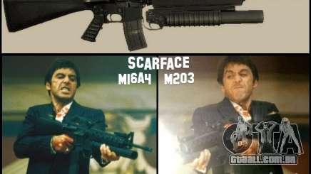 M16A4 + M203 para GTA San Andreas