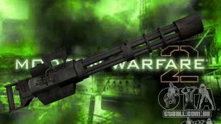 M134 Minigun de CoD: Mw2 para GTA San Andreas