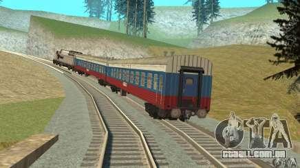 O carro das ferrovias russas Rússia para GTA San Andreas