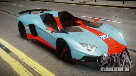 Lamborghini Aventador J 2012 Gulf para GTA 4