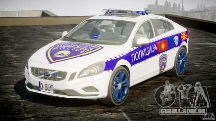 Volvo S60 Macedonian Police [ELS] para GTA 4