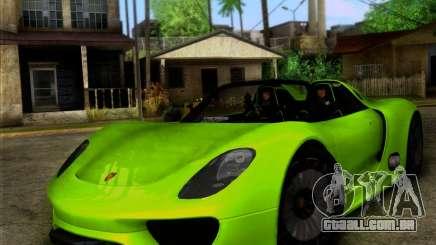 Porsche 918 Spyder Concept Study para GTA San Andreas