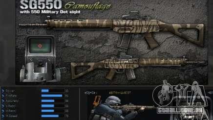 [Point Blank] SG550 Kamo para GTA San Andreas