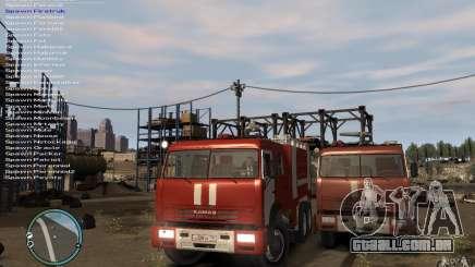 Kamaz bombeiro para GTA 4