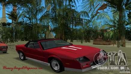 Chevrolet Camaro Convertible 1986 para GTA Vice City
