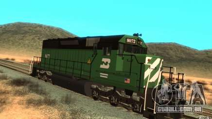 Locomotiva SD 40 Burlington Northern 8072 para GTA San Andreas