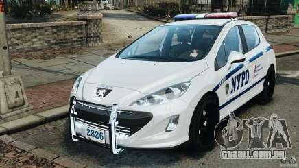 Peugeot 308 GTi 2011 Police v1.1 para GTA 4