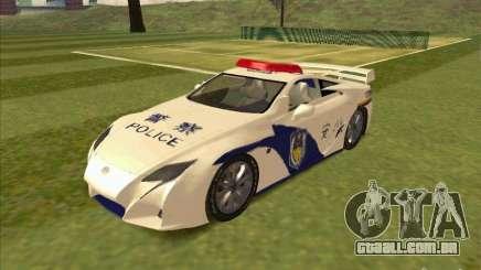 Lexus LF-A China Police para GTA San Andreas