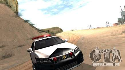 Lexus CT200H Japanese Police para GTA San Andreas
