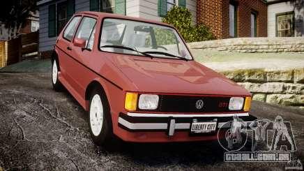 Volkswagen Rabbit 1986 para GTA 4