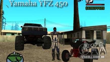 Yamaha YFZ450 para GTA San Andreas