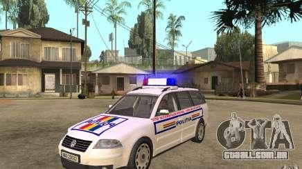 VW Passat B5 Variant Politia Romana para GTA San Andreas