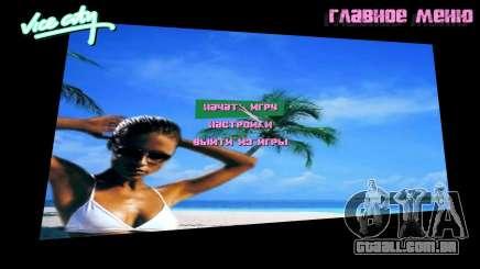 Fundo do menu Spiaggia para GTA Vice City