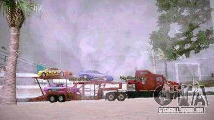 Auto transporte reboque para GTA San Andreas