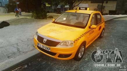 Dacia Logan Facelift Taxi para GTA 4