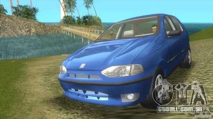 Fiat Palio azul-turquesa para GTA Vice City