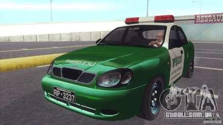 Daewoo Lanos De Carabineros De Chile para GTA San Andreas
