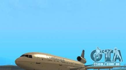 McDonell Douglas DC10 Continental Airlines para GTA San Andreas