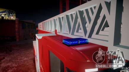 Scania Fire Ladder v1.1 Emerglights blue-red ELS para GTA 4