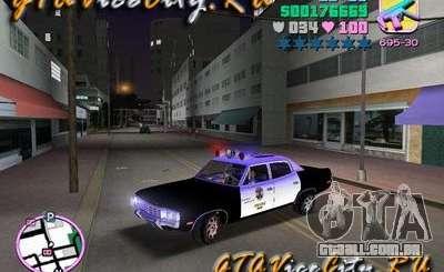 Police Ford AMC Matador para GTA Vice City