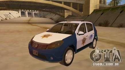 Renault Sandero Police LV para GTA San Andreas