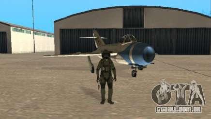 MiG-15 com armas para GTA San Andreas