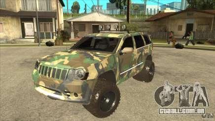 Jeep Grand Cherokee SRT8 Camo para GTA San Andreas