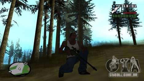 L96A1 para GTA San Andreas terceira tela