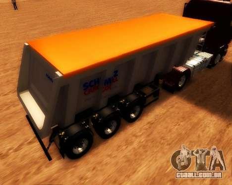 Reboque carga Schmitz Bull para GTA San Andreas esquerda vista