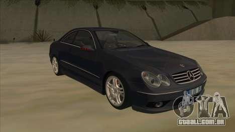 Mercedes-Benz CLK55 AMG 2003 para GTA San Andreas vista traseira