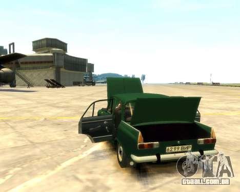 Moskvich 412 para GTA 4 vista de volta
