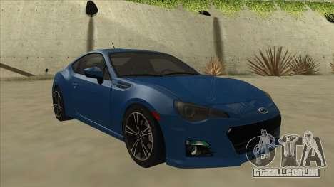 Subaru BRZ 2013 Tunable para GTA San Andreas