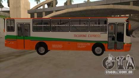 Tacurong Express 368 para GTA San Andreas traseira esquerda vista