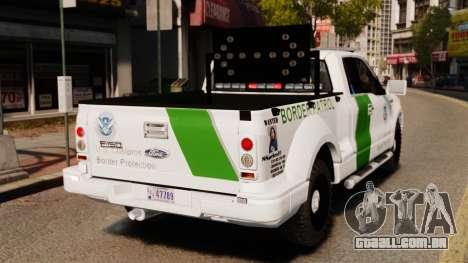 Ford F-150 v3.3 Border Patrol [ELS & EPM] v3 para GTA 4 traseira esquerda vista